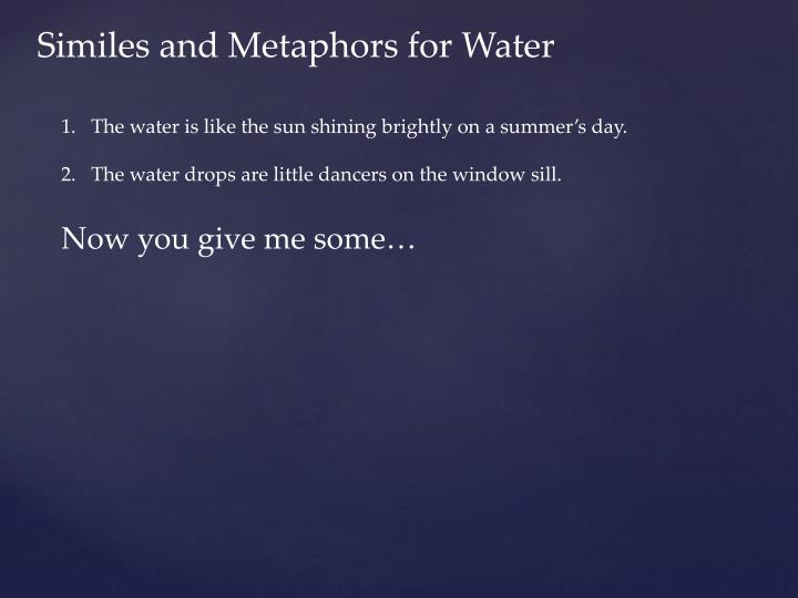 Similes and Metaphors for Water