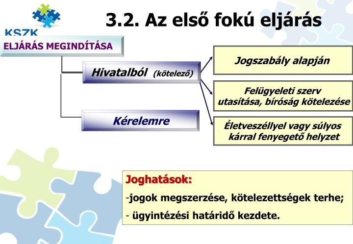 3.2. Az első fokú eljárás