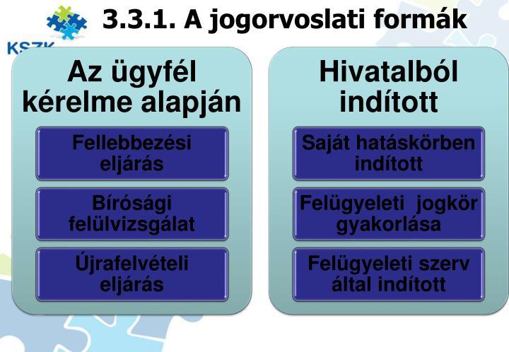3.3.1. A jogorvoslati formák