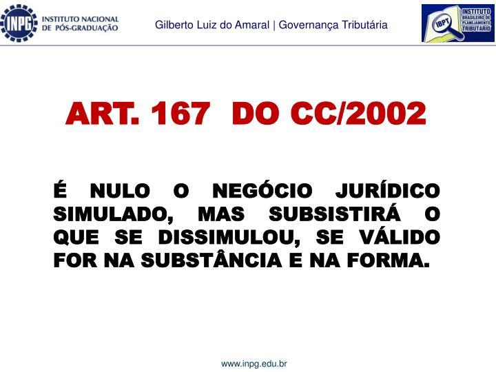 ART. 167  DO CC/2002