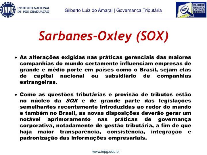 Sarbanes-Oxley (SOX)