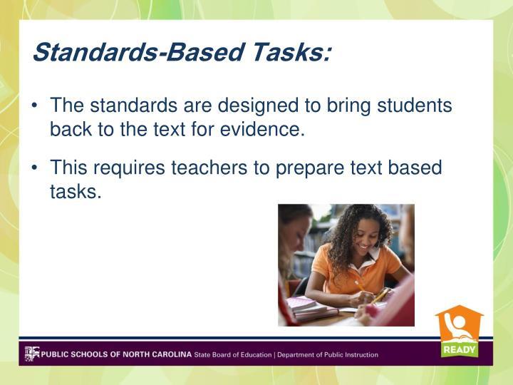 Standards-Based Tasks: