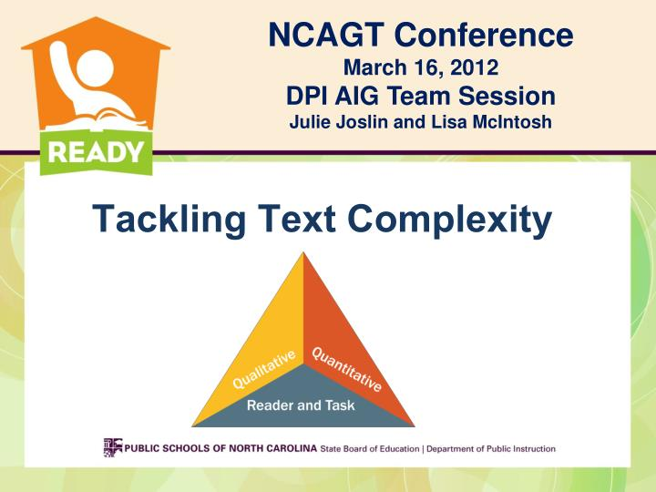 Tackling text complexity
