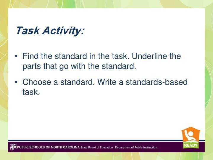 Task Activity: