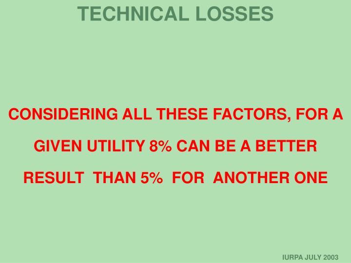 TECHNICAL LOSSES