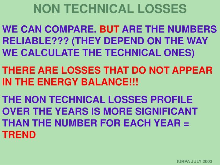 NON TECHNICAL LOSSES