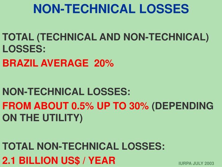 NON-TECHNICAL LOSSES