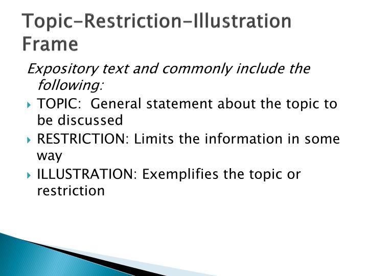 Topic-Restriction-Illustration Frame