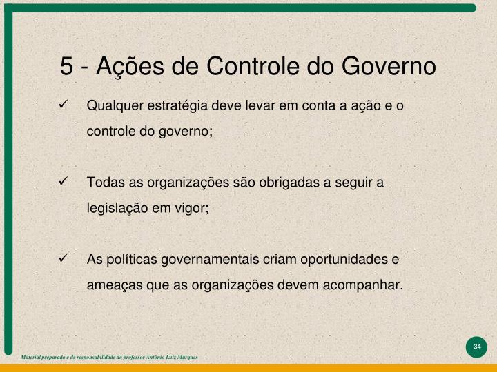 5 - Ações de Controle do Governo