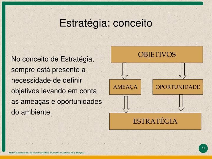 Estratégia: conceito