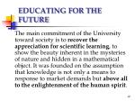 educating for the future