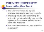 the new university learn rather than teach