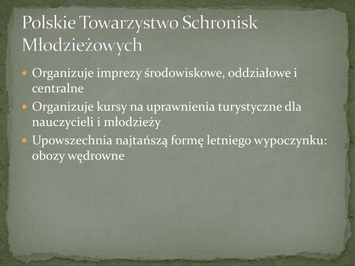 Polskie Towarzystwo Schronisk Młodzieżowych