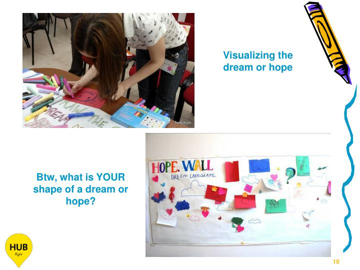 Visualizing the dream or hope