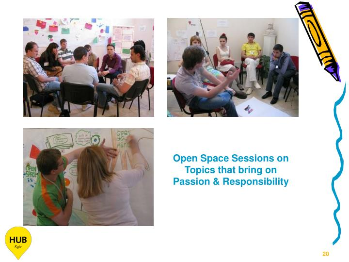 Open Space Sessions on Topics that bring on Passion & Responsibility