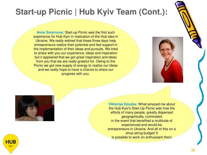 Start-up Picnic | Hub Kyiv Team (Cont.):