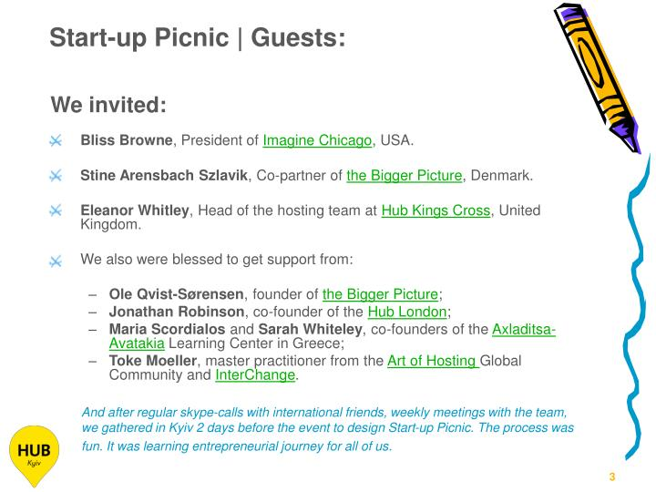 Start-up Picnic | Guests: