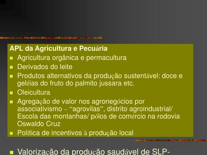 APL da Agricultura e Pecu