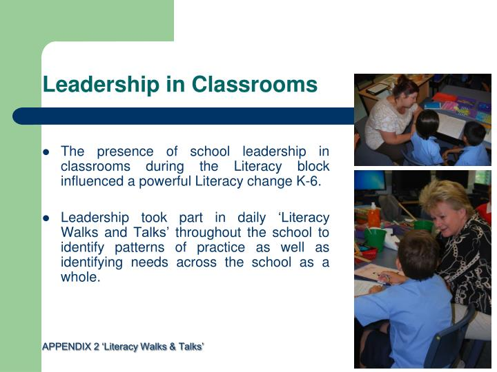 Leadership in Classrooms