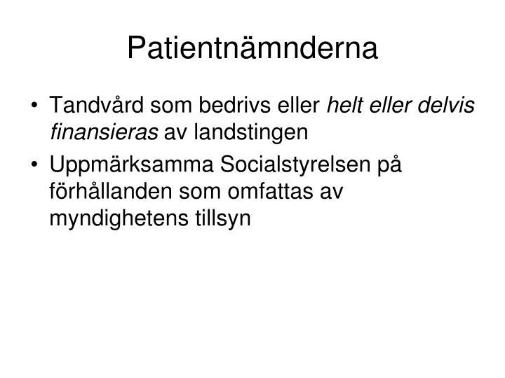 Patientnämnderna