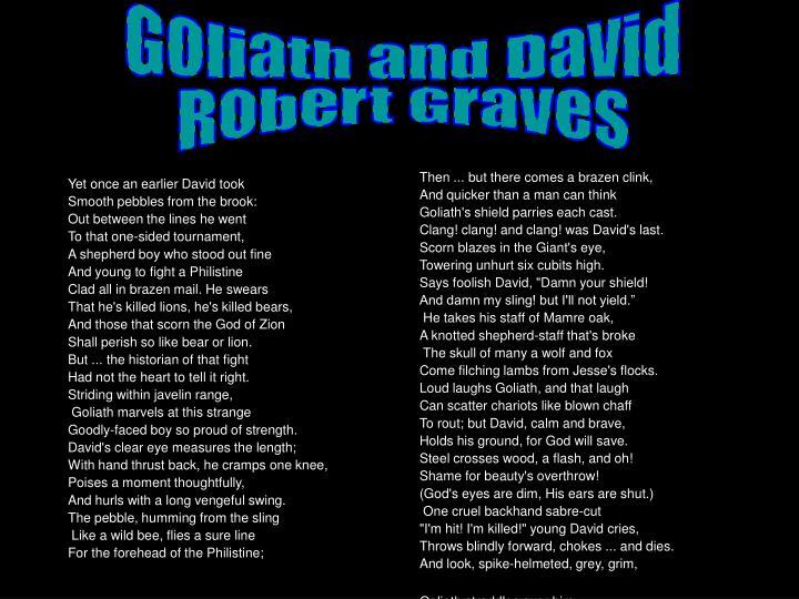 Goliath and David