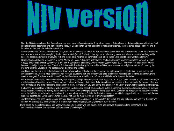 NIV Version