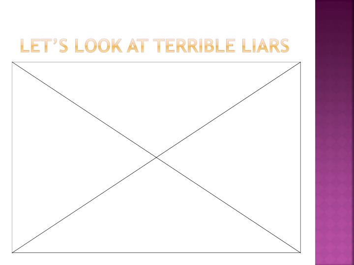 Let's look at Terrible Liars