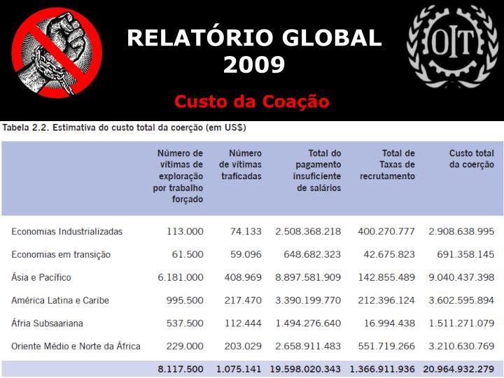 RELATÓRIO GLOBAL 2009