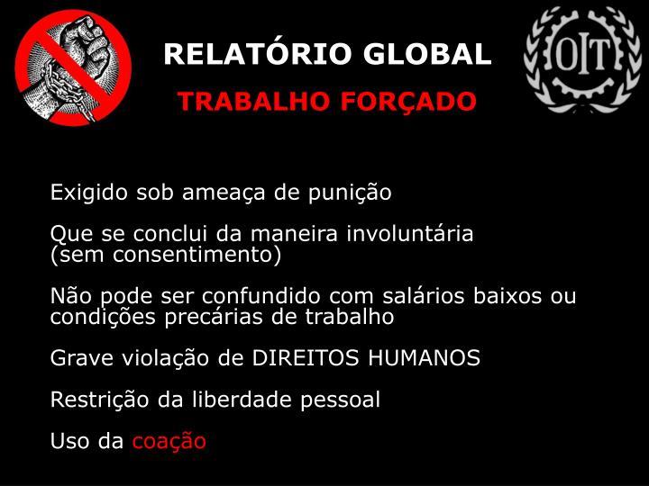 RELATÓRIO GLOBAL