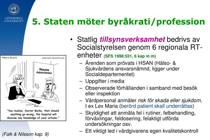 5. Staten möter byråkrati/profession