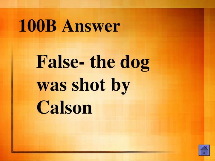 100B Answer