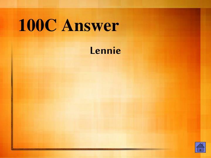 100C Answer