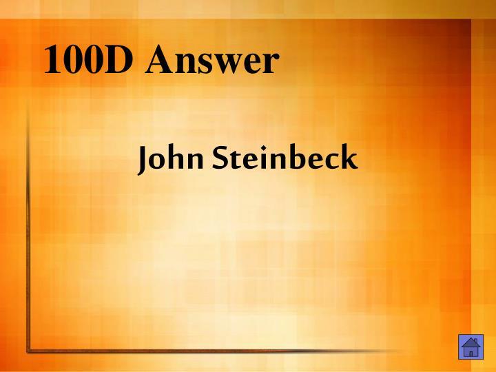 100D Answer