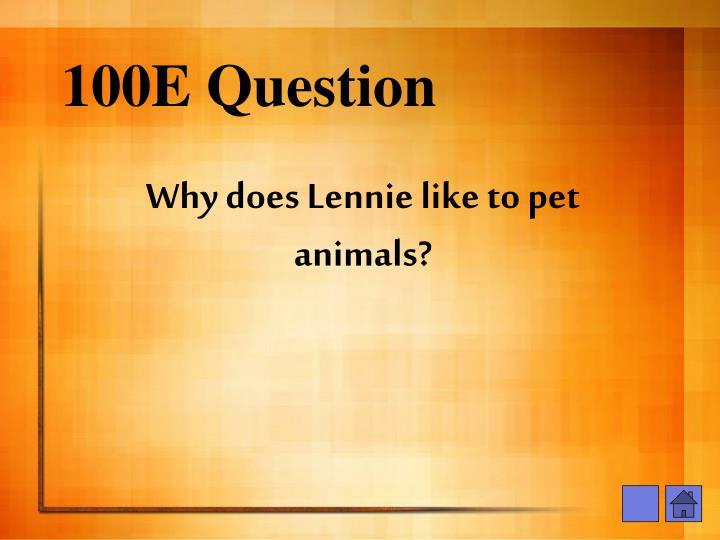 100E Question
