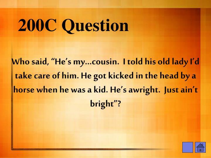200C Question