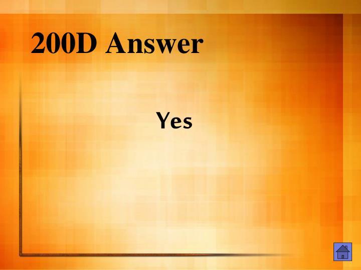 200D Answer