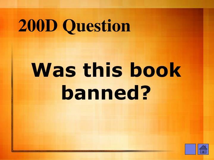 200D Question
