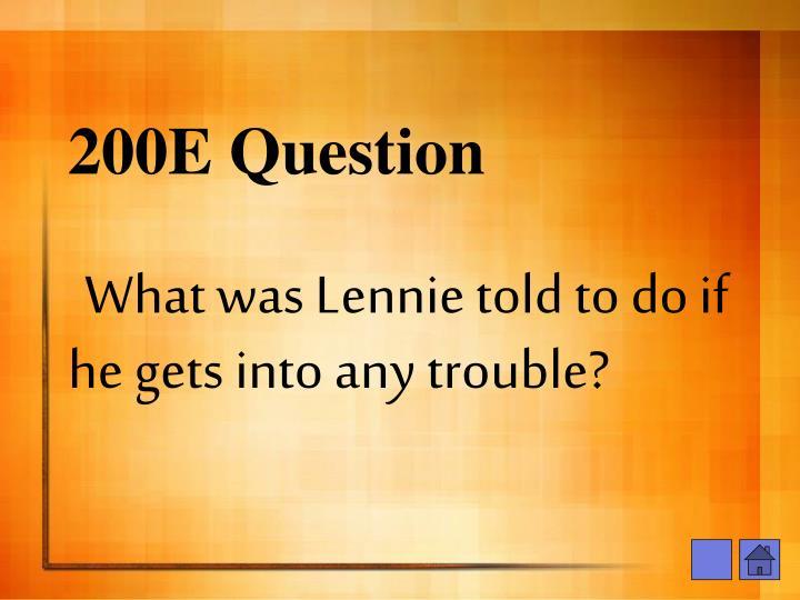 200E Question