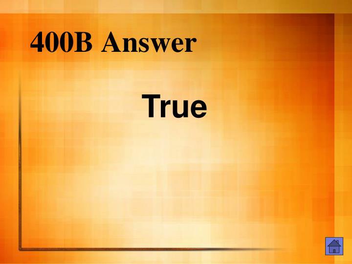 400B Answer