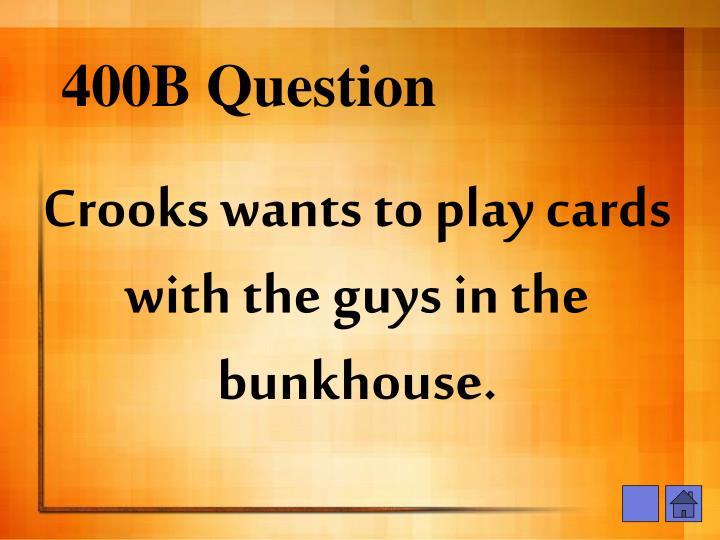 400B Question
