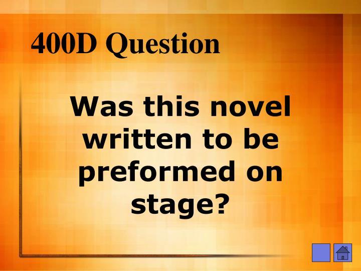 400D Question