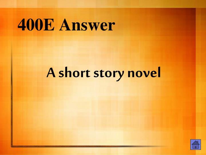 400E Answer