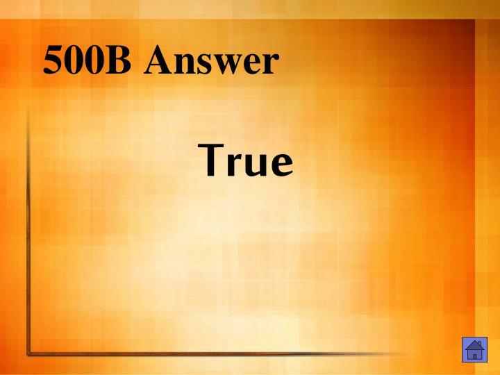 500B Answer
