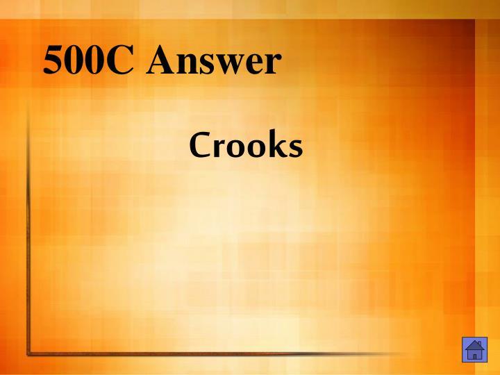 500C Answer
