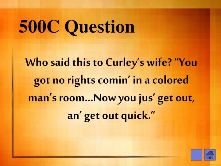 500C Question