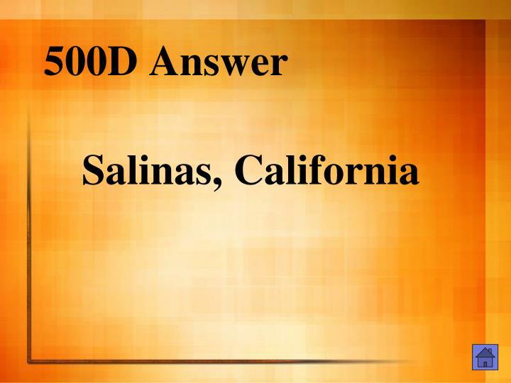 500D Answer