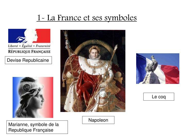 1- La France et ses symboles