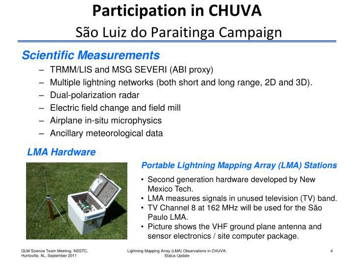 Participation in CHUVA