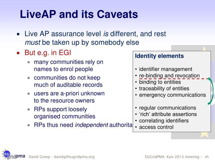 LiveAP and its Caveats