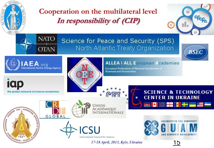 Cooperation on the multilateral level